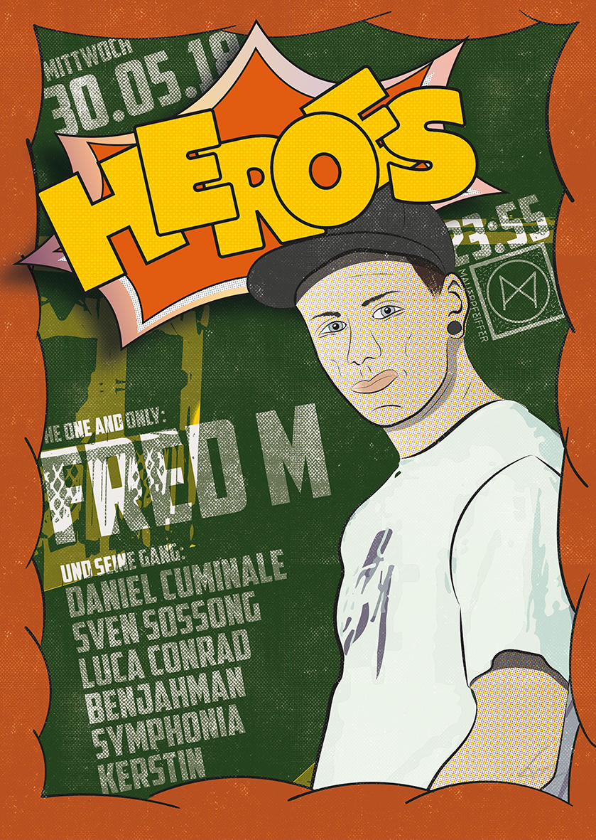Heroes /w FRED M (black square rec, analouge audio, pickig)