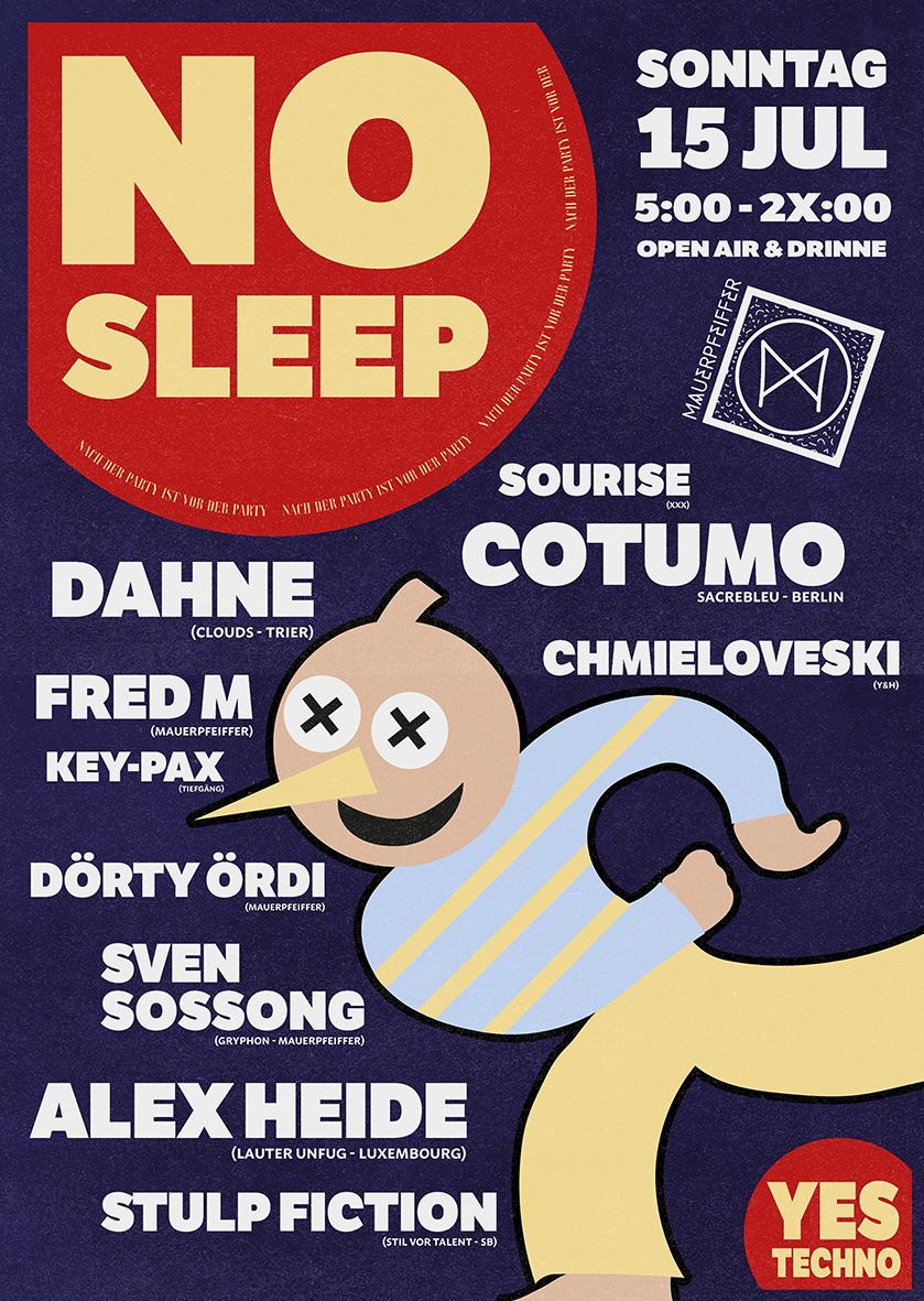 NO SLEEP - Der RAVE am Sonntag!
