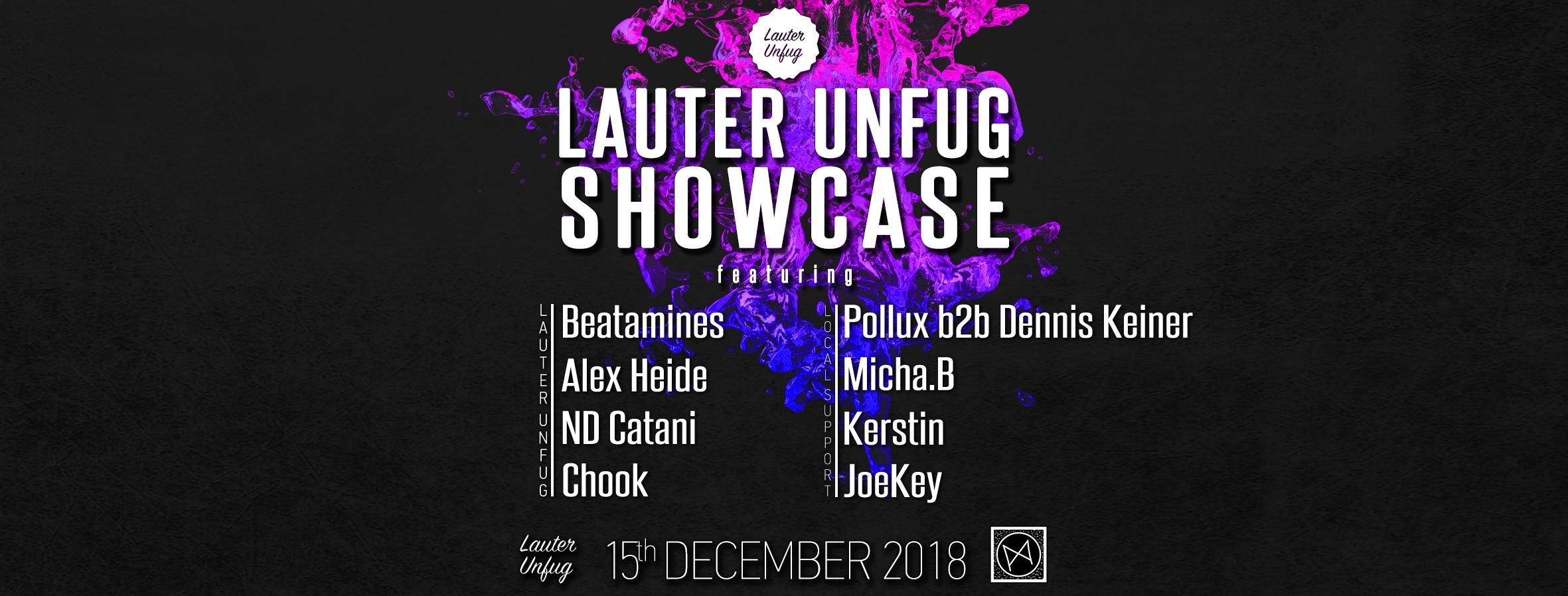 Mauerpfeiffer invites Lauter Unfug w/ Beatamines, ND Catani uvm.