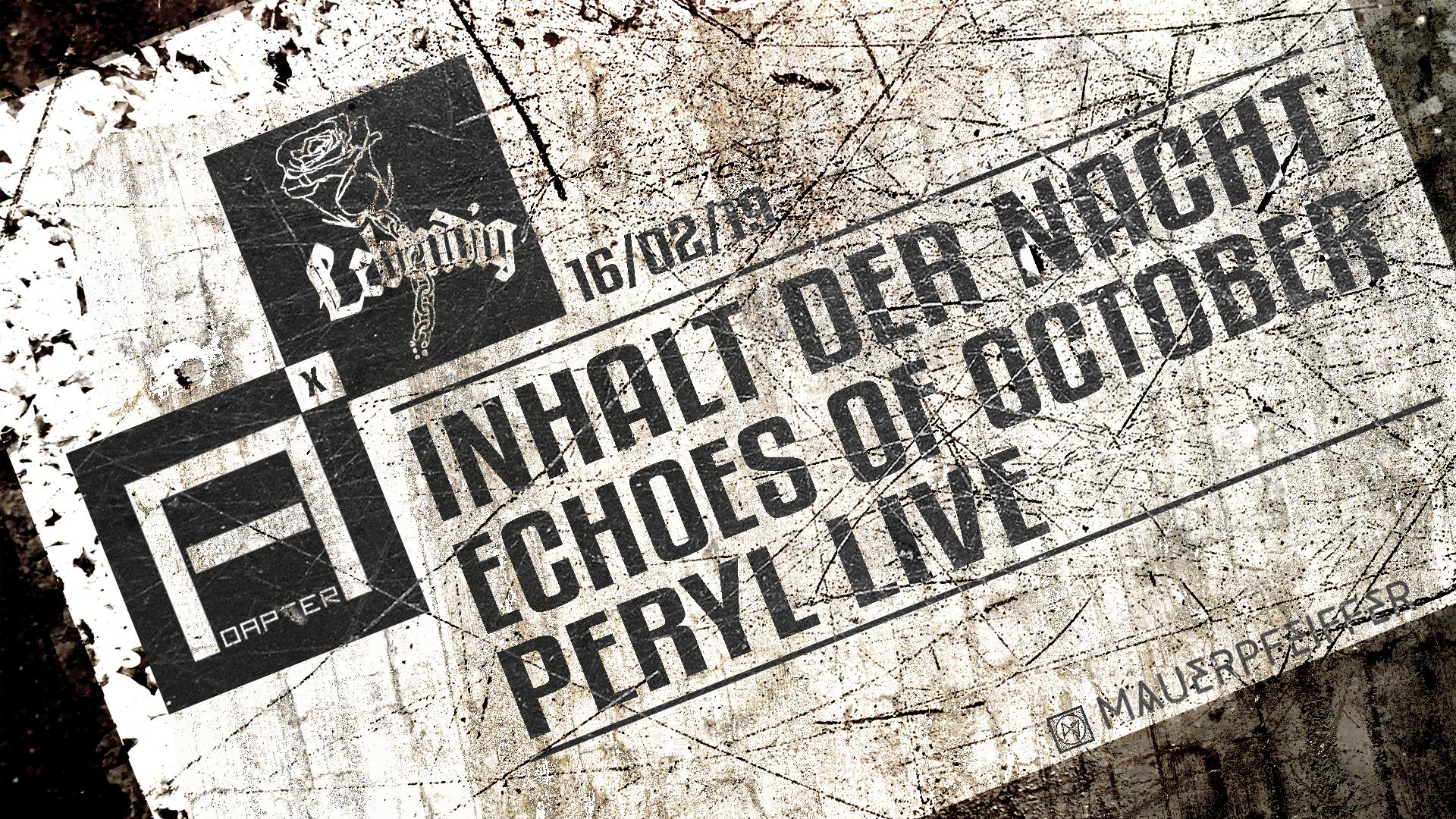 Adapter x Lebendig w/ Inhalt der Nacht Echoes of October & Peryl