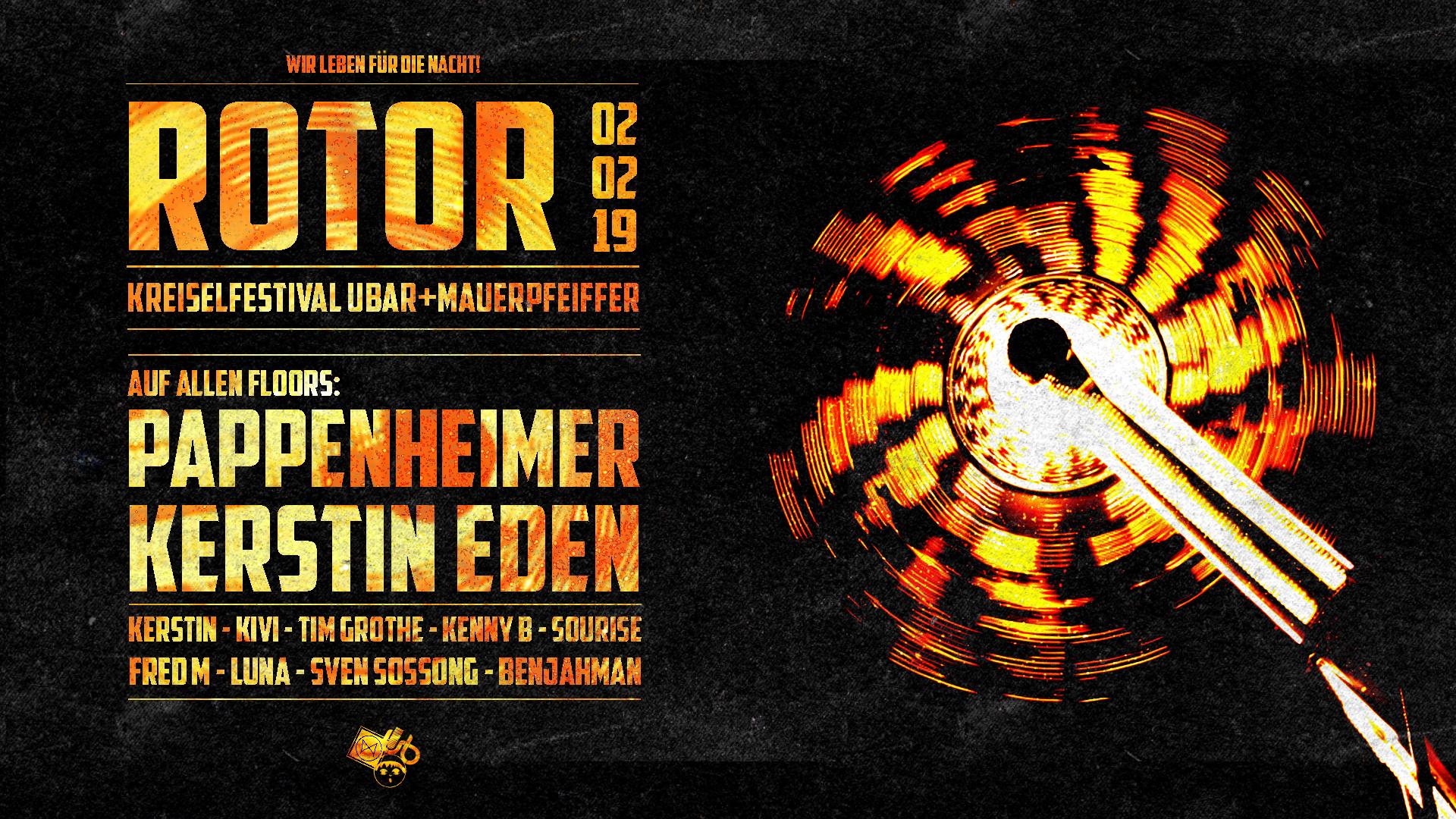 ROTOR Festival • Pappenheimer & Kerstin Eden uvm
