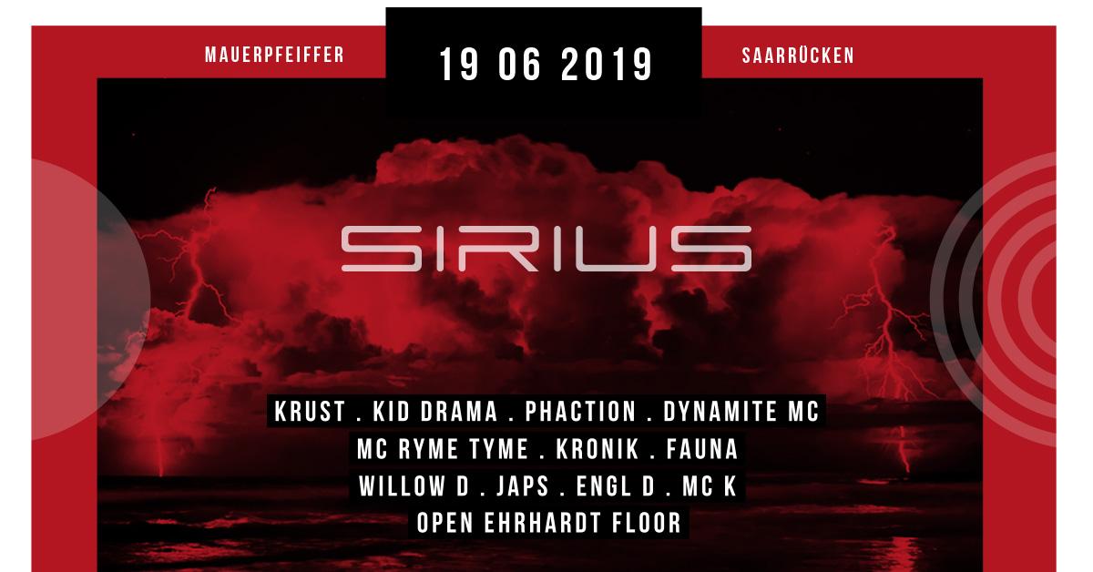 Sirius w/ Krust, Dynamite MC, Kid Drama, MC Ryme Tyme & Phaction