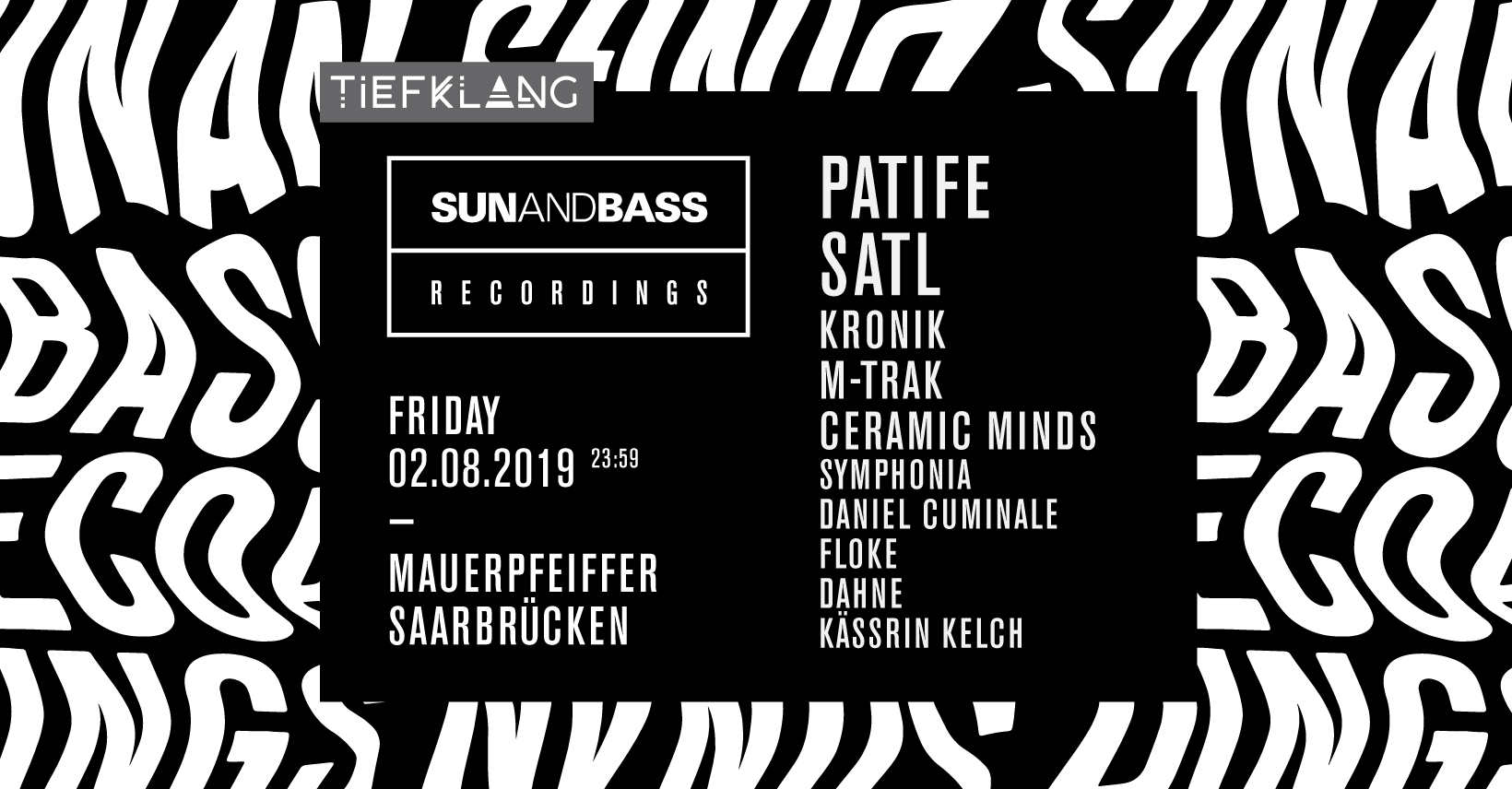 Tiefklang präs.: Sunandbass Rec. Night mit Patife & Satl