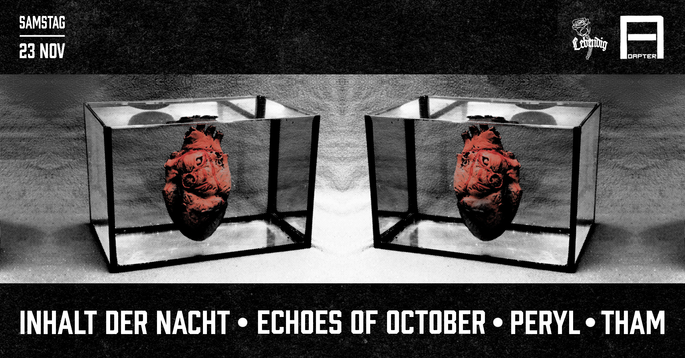 Adapter w/ Inhalt der Nacht,Echoes of October,Peryl *live & Tham