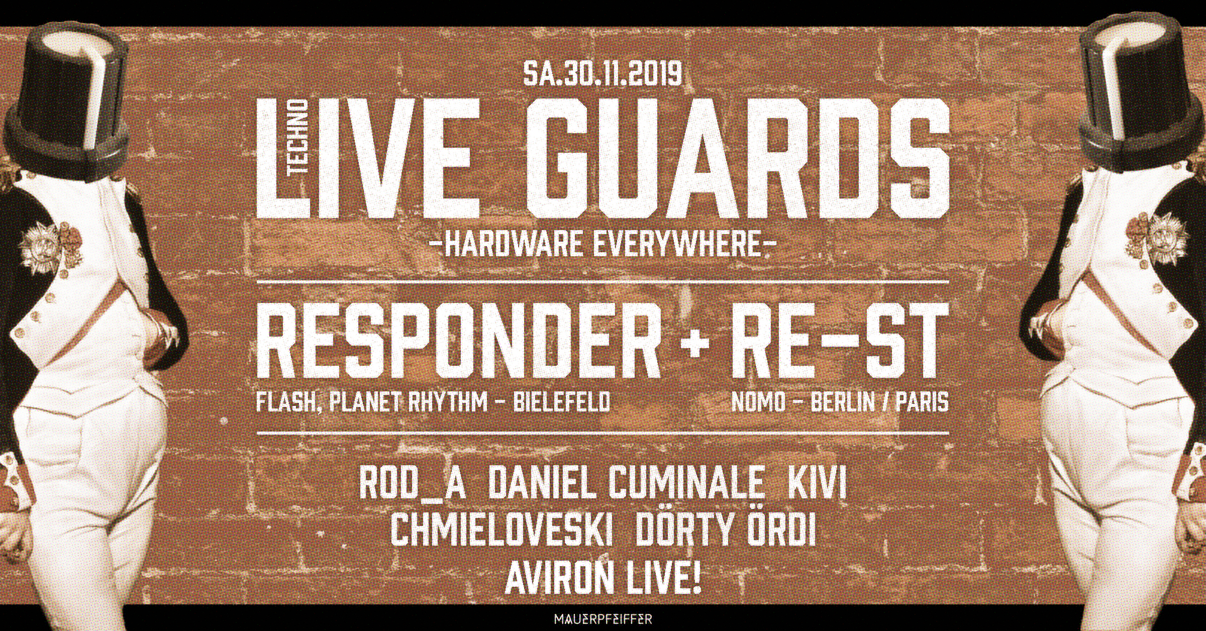 Techno Live Guards - Responder, RE-ST, Aviron (live live live)