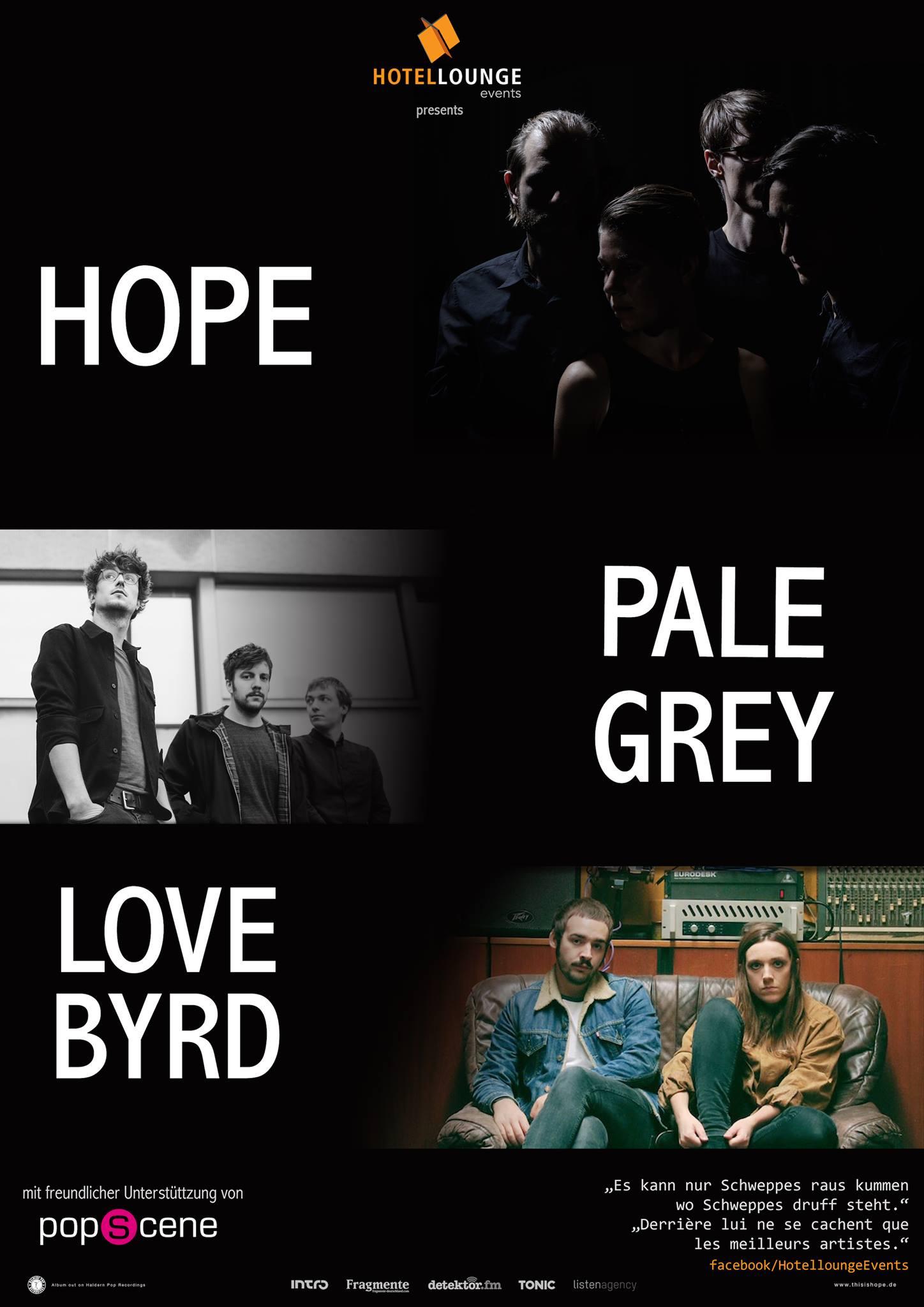 KONZERT: Micropop Festival mit Hope - Pale Grey - Lovebyrd