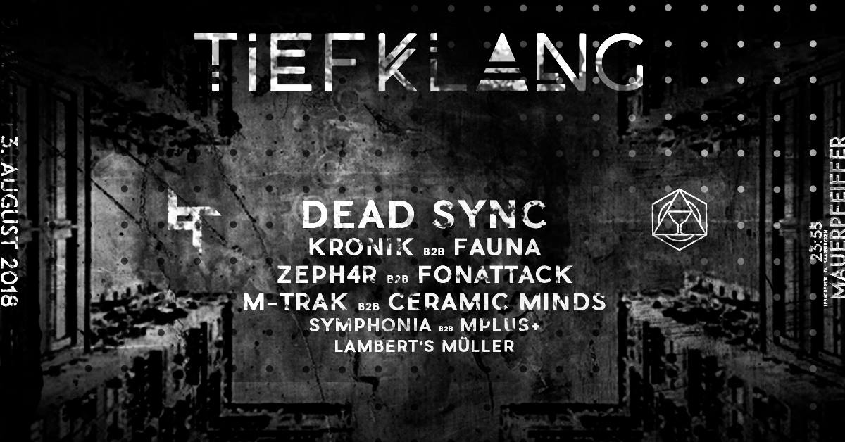 Tiefklang mit Dead Sync   Konsequence EP Release Party