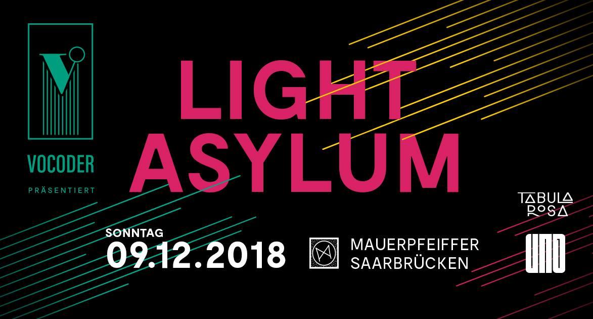 VOCODER concert | LIGHT ASYLUM | Mauerpfeiffer, Saarbrücken