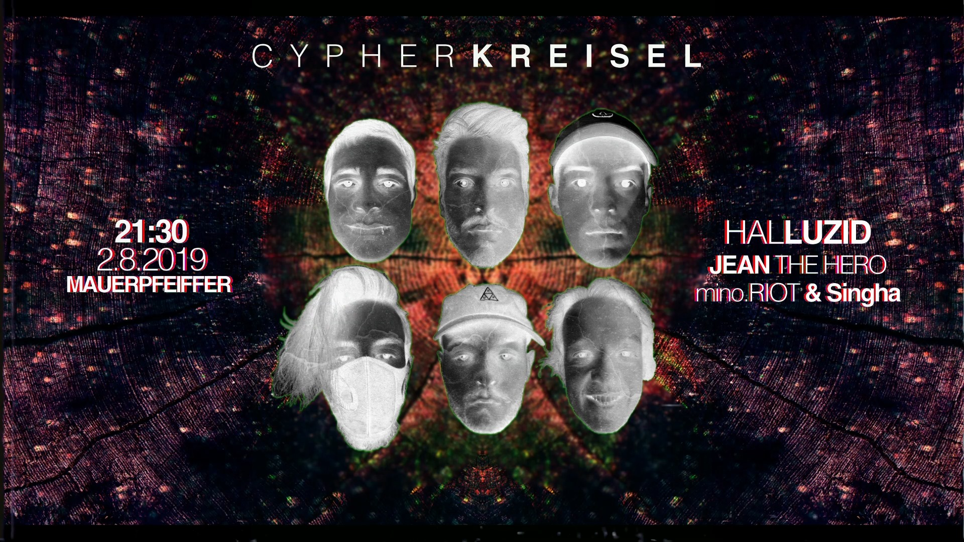 Cypherkreisel#2 w/ Jean The Hero / mino.RIOT & Singha / Halluzid