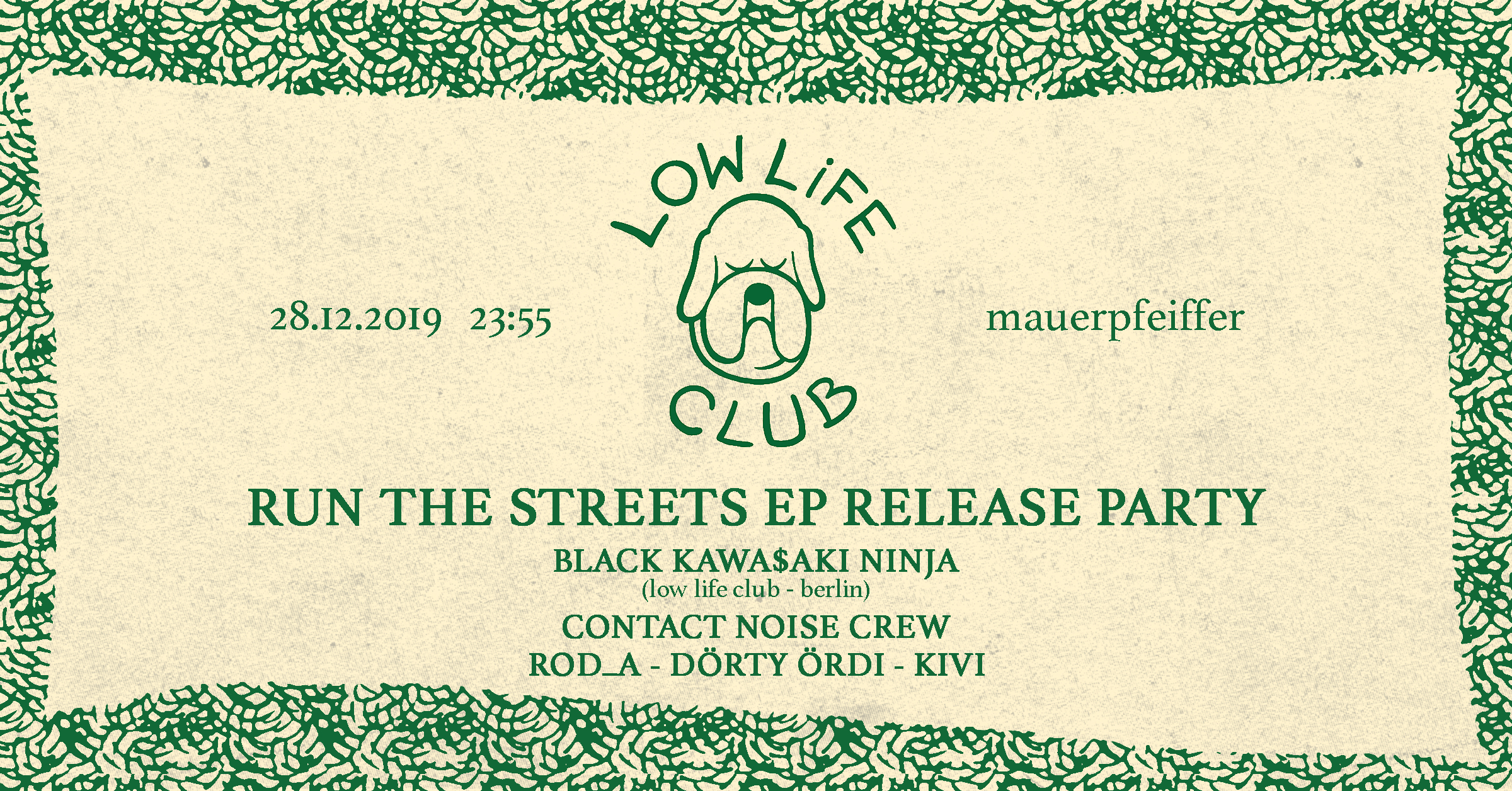 Low Life Club w/ Black Kawa$aki Ninja & Contact Noise Crew